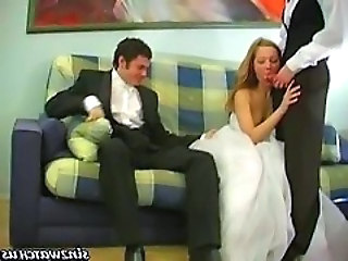 Bride Cuckold Threesome Wife Bride Sex