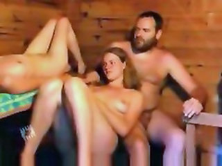 Nudist Russian Threesome Outdoor