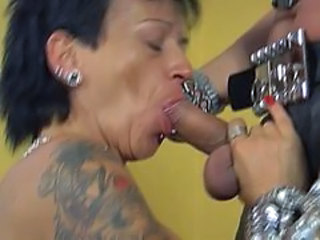 Blowjob Goth Mature Piercing Tattoo Blowjob Mature Mature Blowjob