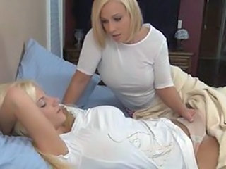 Blonde Daughter Lesbian  Mom Old and Young Teen Blonde Lesbian Daughter