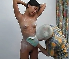 Asian Bathroom Daddy Daughter Korean Old and Young Skinny Small Tits