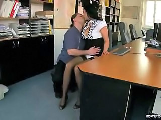 Kissing Office Secretary Stockings Stockings