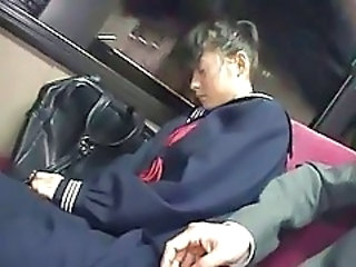 Bus Sleeping Teen Schoolgirl School Teen Sleeping Teen Teen School School Bus Bus + Teen