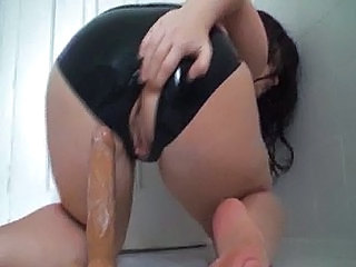 Amazing Ass Dildo Latex Dildo Riding