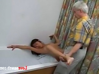 Asian Bathroom Korean Old and Young Skinny Young Asian Cumshot
