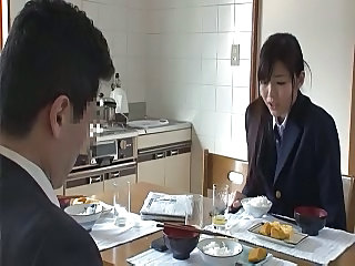 Asian Daughter Japanese Kitchen Student Teen Uniform Daughter