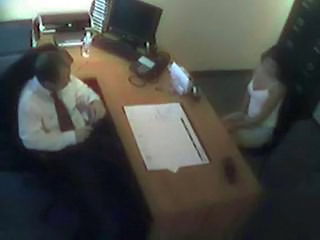 HiddenCam Office Voyeur Interview Foot