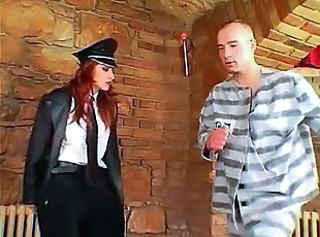 Femdom Prison Uniform Son Mistress Leather