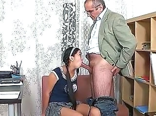 Blowjob Old and Young Pigtail Teacher Old And Young