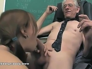 Blowjob Old and Young Pigtail School Student Teacher Young Old And Young School Teacher Teacher Student
