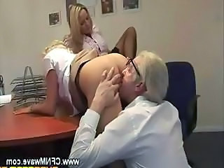 Office Old and Young Secretary Threesome Old And Young Boss Office Pussy