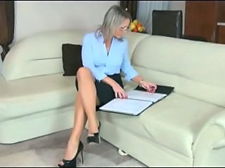 Bus Glasses Legs  Secretary Milf Ass