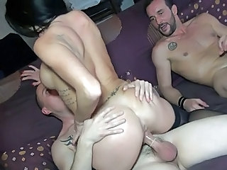Ass Hardcore Riding Tattoo Threesome Threesome Hardcore