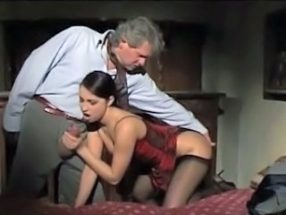 Blowjob Daddy European Italian Old and Young Stockings Vintage Cute Blowjob Cute Brunette Pantyhose European Italian