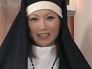 Asian  Nun Uniform Milf Asian
