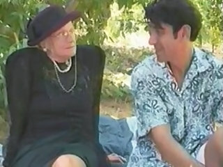 Granny Outdoor Granny Young Outdoor Mature