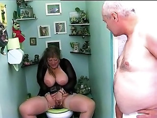 Big Tits French Masturbating Mature Older Toilet Wife French Mature French