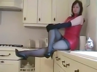 Kitchen Latex Mature Stockings Mistress Stockings Kitchen Mature Mature Stockings Nylon