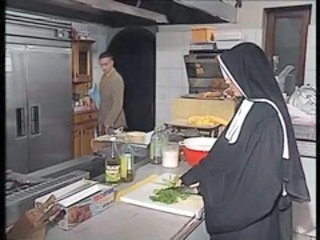 European German Kitchen Nun Uniform German Anal German
