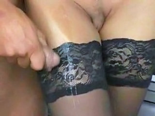 Car  Cumshot German Stockings Stockings German