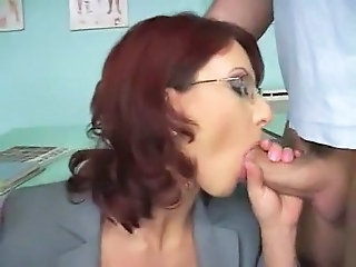 Blowjob Glasses  Redhead School Teacher Milf Anal Blowjob Milf Glasses Anal Milf Ass Milf Blowjob School Teacher