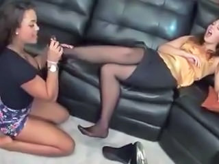 Feet Fetish Licking Stockings Lesbian Licking