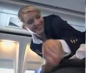 Babe Handjob Uniform Stewardess