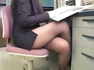 Legs Office Voyeur Big Tits