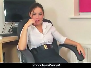 Office Secretary Solo Interview Milf Ass Milf Office Office Milf Striptease