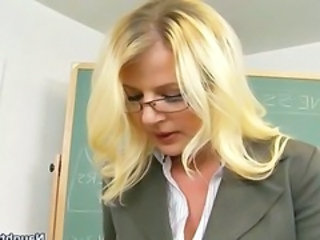 Blonde Glasses  School Teacher Milf Ass School Teacher Teacher Student