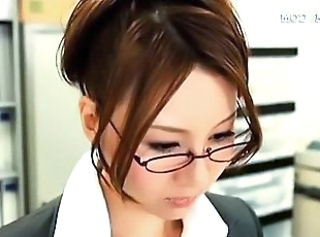 Asian Glasses Japanese Office Secretary Upskirt