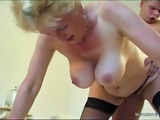 Doggystyle Granny  Stockings Tits Doggy Stockings Granny Stockings