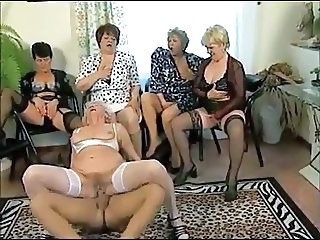 Granny Groupsex Orgy Riding