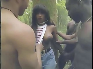 Ebony Gangbang  Outdoor Outdoor