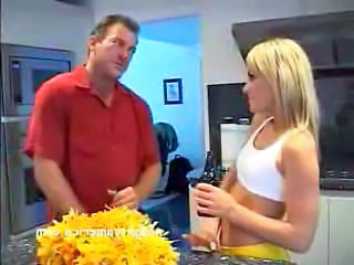 Blonde Cheerleader Kitchen Pornstar Cheerleader Son