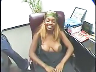 Ebony Mature Office  Secretary Tits Office