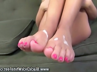 Cumshot Feet Fetish Interracial Footjob Foot