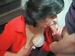 Blowjob French Lingerie Mature Family French