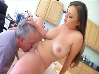 Kitchen Licking   Natural Pornstar Son