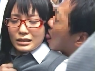 Asian Forced Glasses Japanese Public Student Public Asian Public Forced