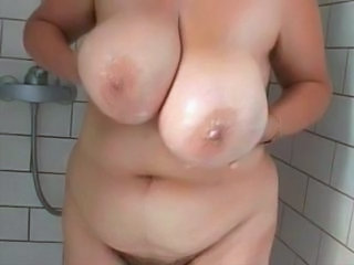Bbw Wife Hairy Busty Shower Busty Wife Busty