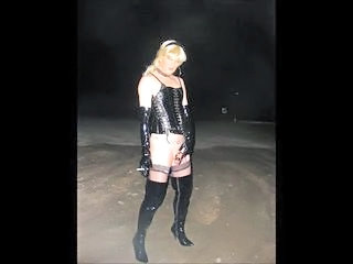 Pissing Public Smoking Stockings Hooker Stockings Public