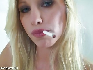 Blonde Bus Facial Natural Smoking Blonde Facial