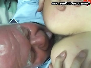 Daddy Licking Old and Young Grandpa Daddy Old And Young