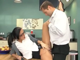 Clothed Glasses Hardcore  Pornstar Secretary Dirty Milf Ass