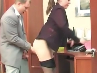Clothed Office Pantyhose Secretary Pantyhose