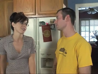 Glasses Kitchen  Son Milf Ass