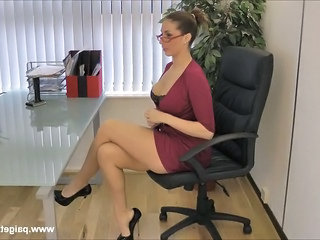 Amazing Glasses Legs  Office Secretary Milf Ass Milf Office Boss Office Milf