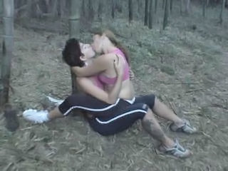 Kissing Lesbian Outdoor
