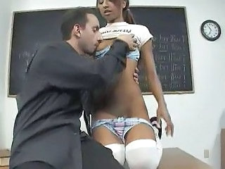 Amazing Daddy Lingerie Old and Young School Skinny Small Tits Student Teacher Teen Stockings Classroom